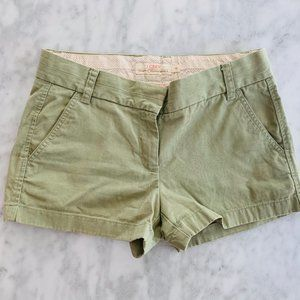 J Crew Sage Green Shorts Broken In Chino 4 Cotton